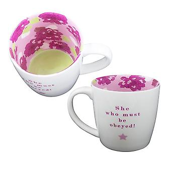 Two Up Two Down She Who Must Be Obeyed Mug