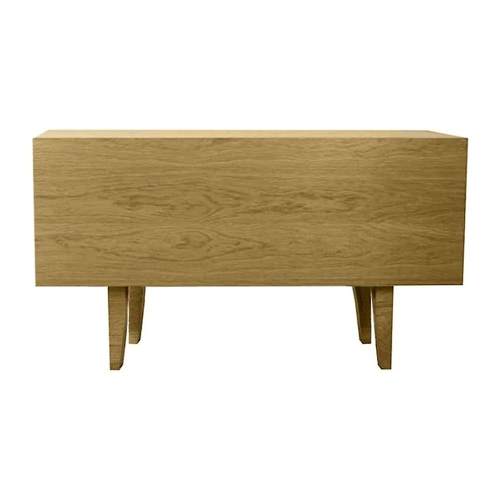 Fusion Living Modern Retro Oak And Vanilla Mid Sideboard
