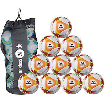 10 x erima ungdom bollen Futsal hybrid JNR 310 (2019) innehåller bollen säck