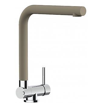 Single-lever Kitchen Sink Mixer With Folding Spout Only 4,5 Cm - Quartz Sand - 454