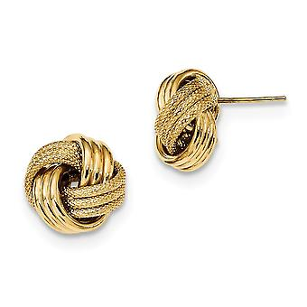 14k Polished Textured Triple Love Knot Post Earrings Measures 12.5x12.5mm Wide Jewelry Gifts for Women