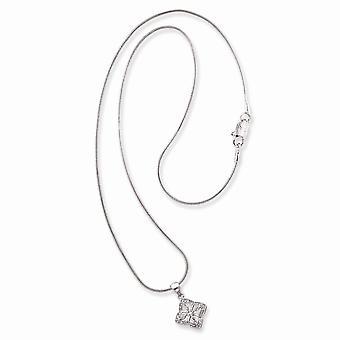 Kreeft Klauw Sluiting Rhodium verguldlavendel CZ Cubic Zirconia Gesimuleerde Diamond Filigree Ketting 18 Inch Sieraden Geschenken