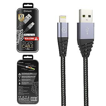 Usb Cable / Lightning 1.2 Meters (2.4 A) Tiger Cable