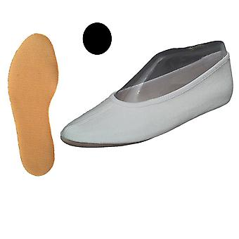 Turnen schoenen katoen zwart met rubber enige (GR 22-48)