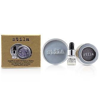 Magnificent Metals Foil Finish Eye Shadow With Mini Stay All Day Liquid Eye Primer - Metallic Lavender 2pcs