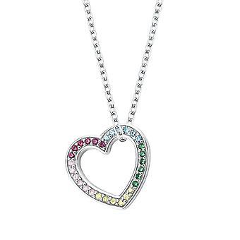 Princess Lillifee Kids Kids Necklace Silver Heart Zirconia Girl 2027903