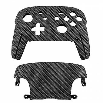 Replacement housing shell for nintendo switch pro controllers front & back cover hard - black / silver | zedlabz