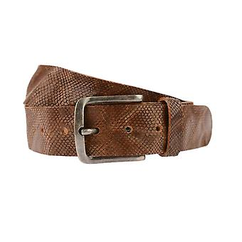 Luxury Brown Belt With Snake Structure
