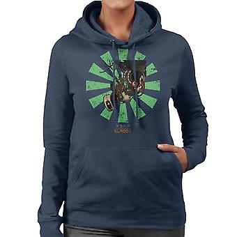 Glados Retro Japanese Portal Women's Hooded Sweatshirt