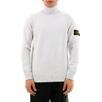 Stone Island 7115529a2v0003 Men's Grey Wool Sweater