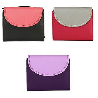 Eastern Counties Leather Womens/Ladies Leanne Purse With Contrast Panel