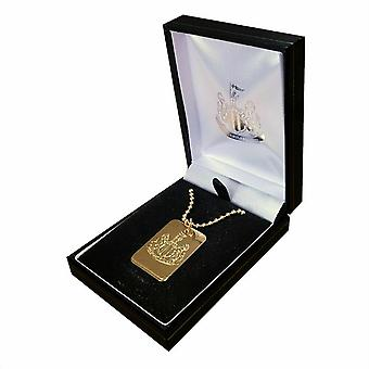 Newcastle United FC Plated Dog Tag & Chain