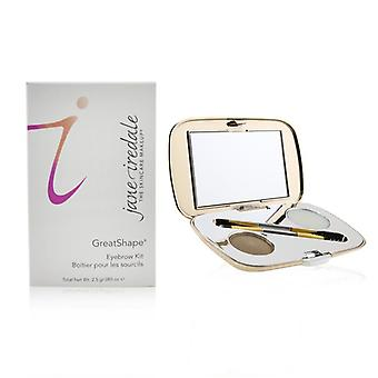 Jane Iredale Greatshape Eyebrow Kit (1x Brow Powder 1x Brow Wax 1x Applicator) - Ash Blonde - 2.5g/0.085oz
