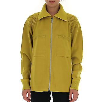 Issey Miyake Me98kc11952 Men's Yellow Cotton Sweater