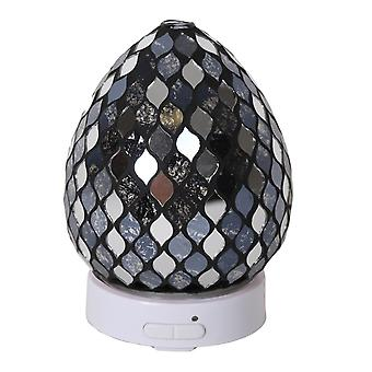 Aroma Mosaic LED Ultrasonic Electric Oil Diffuser Aromatherapy Black Mirror