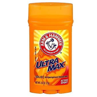 Arm & hammer ultramax deodorant, solid, active sport, 2.8 oz