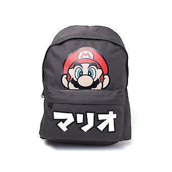 Super Mario Japanese Text backpack satchel Bag 41x31x10cm Grey