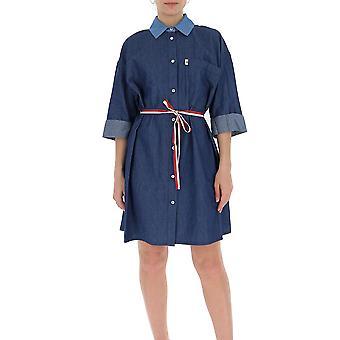 Semi-couture S0sy33var54 Women's Blue Cotton Dress
