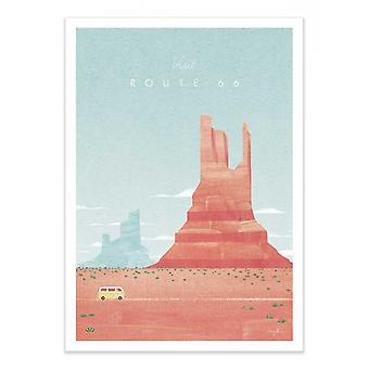 Art-Poster - Visit Route 66 - Henry Rivers