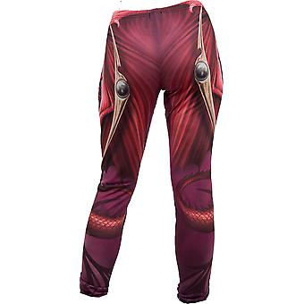 Spiral Direct Gothic WYVERN - Allover Comfy Fit Leggings Black|Dragon|Tribal|Fashion|Mystical