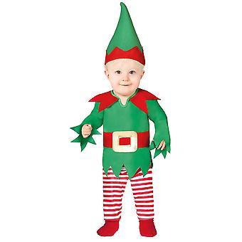 Peuters brutale elf kerst fancy dress kostuum