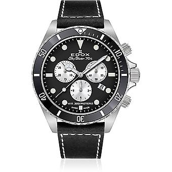 Edox - Wristwatch - Men - SkyDiver - 70s Chronograph - 10238 3NC NIA