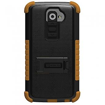 LG G2 TRISHIELD CASE - BLACK/BROWN
