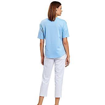 R-sch 1203084-15645 Mujeres's Smart Casual Graphic Minimal Blue Pyjama Set