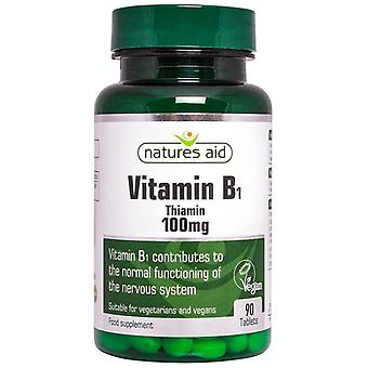 Nature's Aid Vitamin B1 100mg Tabletten 90 (127720)