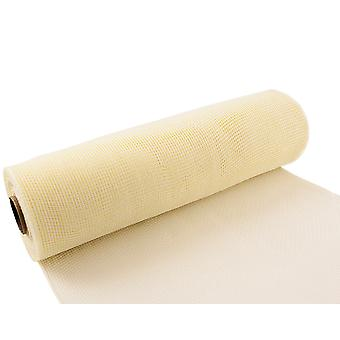Ivory 25cm x 9.1m Deco Mesh Roll for Wreath Making, Floristry & Crafts
