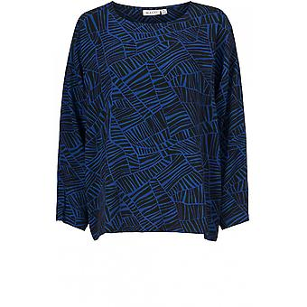 Masai Clothing Bahati Blue Patterned Top