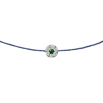 Choker Duchess Emerald 18K Or and Diamonds, on Thread - White Gold, BluePetrol