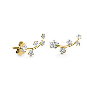 Earrings Fairy Blossom 18K Gold and Diamonds - Yellow Gold