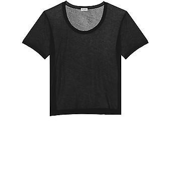 Saint Laurent 601527ybnr21000 Men's Black Cotton T-shirt