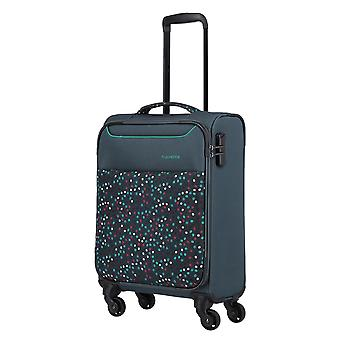 travelite Argon Hand Luggage Trolley S, 4 roues, 55 cm, 30 L, Blue Pointted