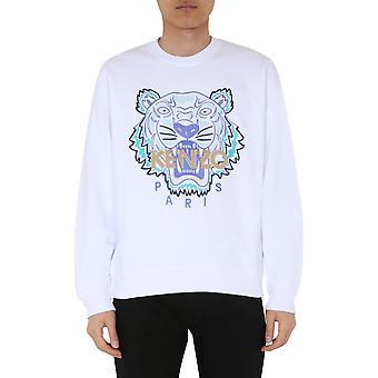 Kenzo Fa55sw1344u901 Mænd's Hvid bomuldsst sweatshirt