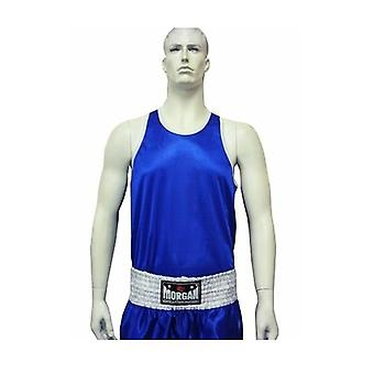 Morgan Boxing Singlet Blue