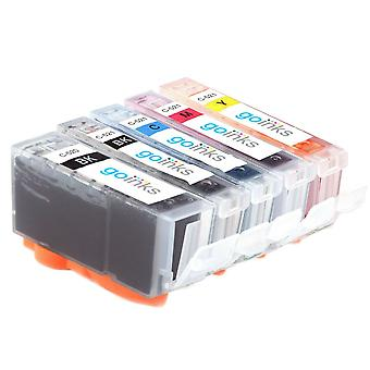 1 Set of 5 Ink Cartridges to replace Canon PGI-520 & CLI-521 Compatible/non-OEM from Go Inks (5 Inks)