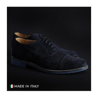 SB 3012 - shoes - lace-up shoes - 1003_CAMOSCIO-B_BLU - men - navy - EU 44