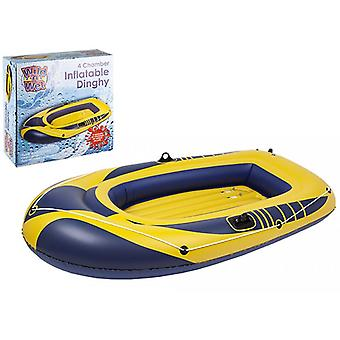 "Wild N Wet 4 Chambre Gonflable Dinghy 89"" X 51"""