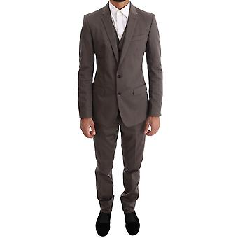 Dolce & Gabbana Brown Cotton 3 Piece Slim Fit Pak