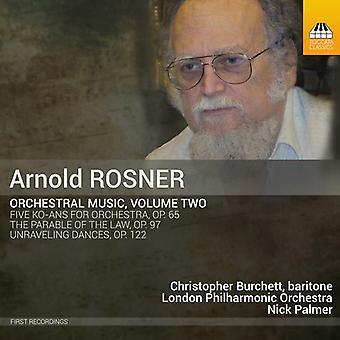 Rosner / Burchett - Orchestral Music [CD] USA import