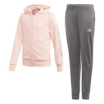 Adidas Girls Hooded Polyester Track Suit