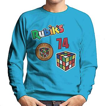 Rubik's Cube badges mannen Sweatshirt