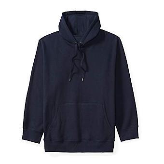 Essentials Men's Big and Tall Hooded Fleece Sweatshirt fit by DXL, Nav...