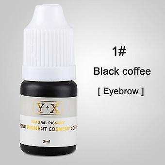 Plant Tattoo Ink Pigment for Semi Permanent Eyebrow Eyeliner Lip Paint - Microblading Pigment Eyebrow Tattoo Color Inks