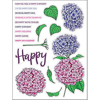 LDRS Creative Hydrangeas Clear Stamps