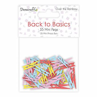 Dovecraft Back to Basics Over The Rainbow Mini Pegs