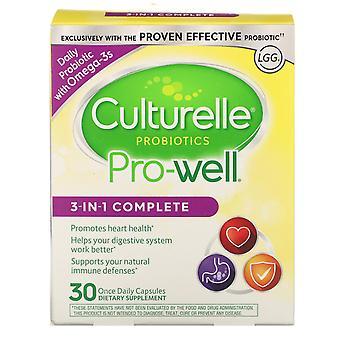 Culturelle, Probiotiques, Pro-Well, 3-En-1 Complet, 30 Fois par jour Capsules