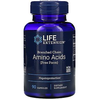 Extensión de vida, aminoácidos de cadena ramificada, 90 cápsulas